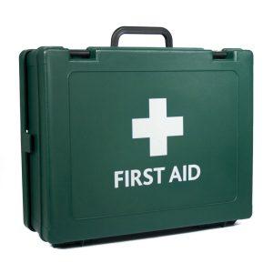 Cambridge HS4 First Aid Box empty Green204