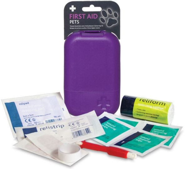 Pets First Aid Kit in Small Purple Tabula Box2639-ARA