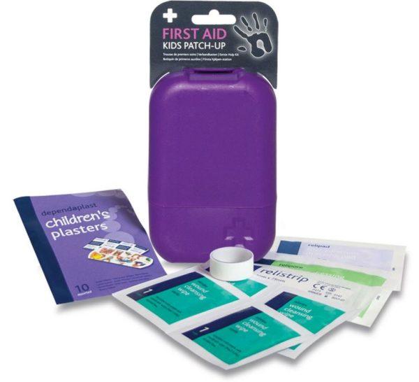 Kids patch up First Aid Kit in Small Purple Tbula Box2647-ARA