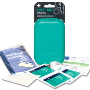 Sports First Aid Kit in Small Teal Tabula Box2648-ARA