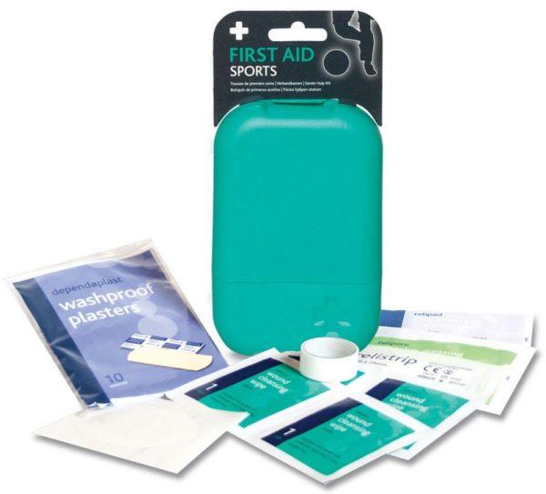 Sports First Aid Kit in Small Teal Tabula Box2648-ARA