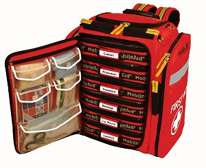 MobileAid Hi-Vis XL 200 Trauma First Aid Backpack Kit31415