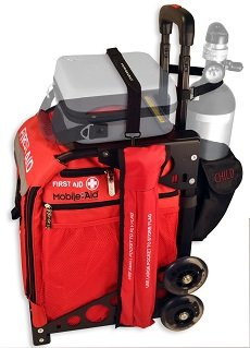 MobileAid BLS Hi-Visibility Easy-Roll Trauma First Aid Station with Oxygen Tank Holder and AED Strap31580