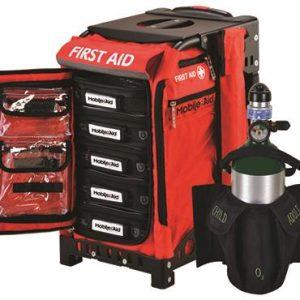 MobileAid BLS Pro 200 Hi-Visibility Easy-Roll Trauma First Aid Station w O2 Tank Holder & AED Strap31589