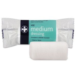 Medium HSE Dressing 12cm x 12cm sterile unboxed316-AR