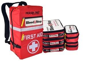 Bleedstop Reflex MULTIPLE-CASUALTY 100 Bleeding Wound Trauma First Aid Backpack32732