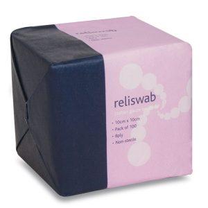Reliswab Cotton Gauze Swabs BP 10x10cm