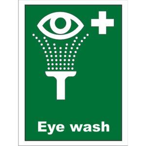 Sign Eye Wash & White Cross Vinyl4724