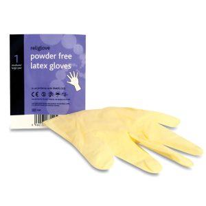 Reliance Latex Powder Free Gloves Pair (Medium / Large)49
