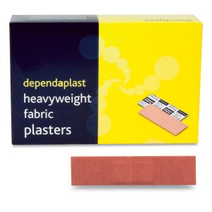 Dependaplast Fabric Plasters 7cm x 2cm Box of 100513