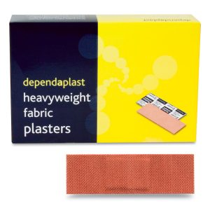 Dependaplast Fabric Plasters 7.5cm x 2.5cm Box of 100514