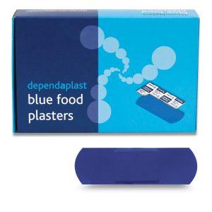 Dependaplast Blue Food Area 7.5cm x 2.5cm Box of 100544