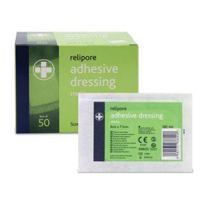 Relipore Adhesive Dressing pads 5cm x 7.5cm sterile dressings