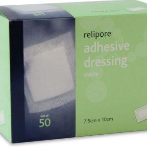 Relipore Adhesive Dresing pads 7.5x10cm - single602k
