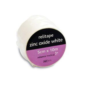 Relitape Zinc Oxide Tape White 5cm x 10m615