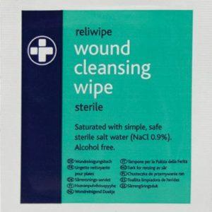 Reliwipe Moist Saline Cleansing Wipes Sterile - single740K
