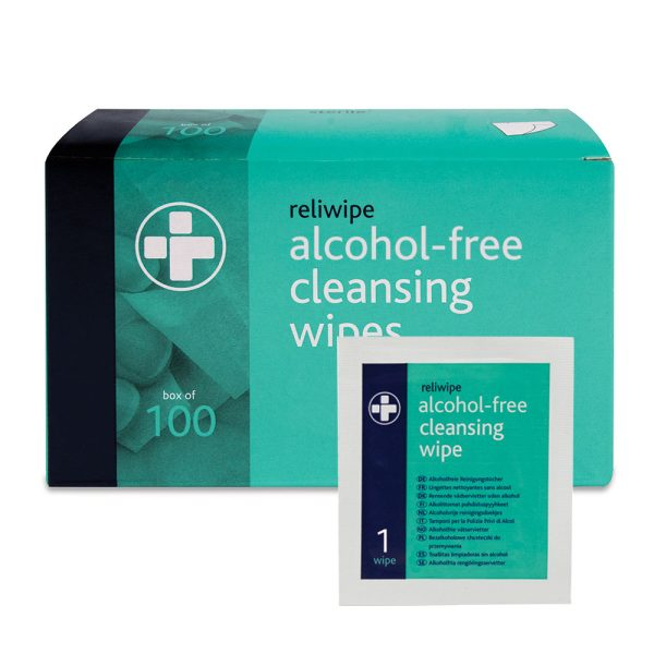 Reliwipe Alcohol Free Cleansing Wipes (Non Sterile) Box of 100741