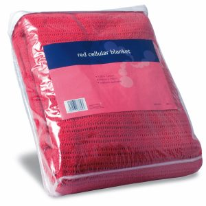 Red Cellular Blanket 200cm x 150cm762