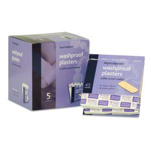Washproof Plasters in Pilfer Proof Wallets Box of 5 (Case 5)907