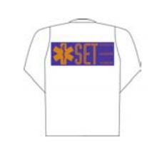 White polo long sleeve with Set printing (back) SCB10000