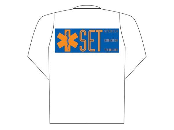White polo long sleeve with Set printing (back) XXLCB10004