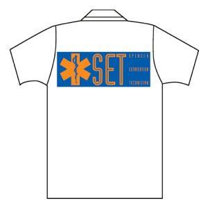 White polo Short sleeve with Set Logo (back) XXLCB10014