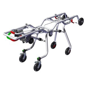 CROSS UP 8409 TROLLEY  (trolley with variable heights for Cross Up 8409 stretcher)CR00007