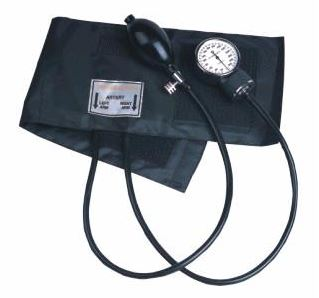 ClipOn Twin Tube Aneroid Sphyg with Black Nylon CuffDE/012