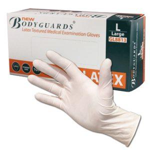 Non-Sterile Powder Free Latex Gloves - White-Box of 100- MDP/122