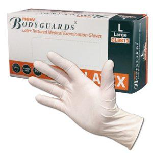 Non-Sterile Powder Free Latex Gloves - White-Box of 100- LDP/123