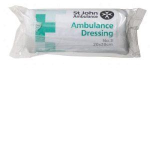 No.3 Ambulance Dressing 20x28cm sterileF07920