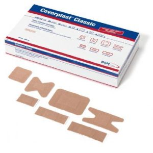 Coverplast classic fabric adhesive fingertip dressing pk100F10880