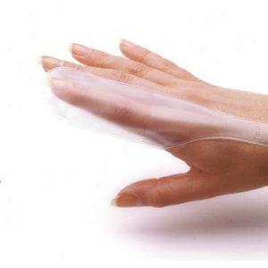 Fingerstall clear plastic medium pk10F11564