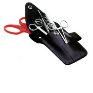 Leather scissor pouch unkittedF11903