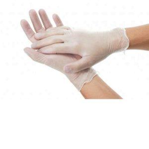 Powder Free Vinyl Gloves 1 pair largeF12683