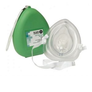 St John Ambulance rescue mask with 02 inlet - Pocket MaskF79173