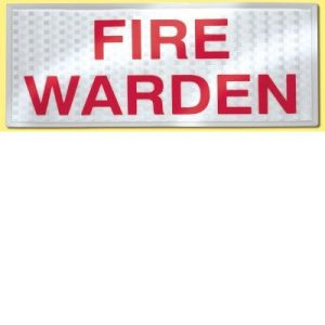 Fire Warden Reflective Badge SetF90040