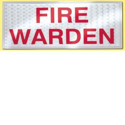 Fire Warden Reflective Badge SetF90040