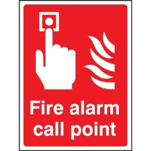 Fire Alarm Call Point - 15 x 20cm . Are made from self adhesive vinyl  from St. John Ambulance .F90072