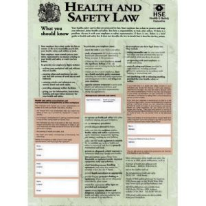 Health and safety law poster 400x600mmF90074