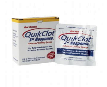 QuikClot® 1st Response advanced clotting sponge - pack of 5F90108