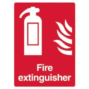 Fire extinguisher Sign - 15 x 20cm .F90408
