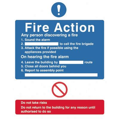 Fire Action Notice SignF90432