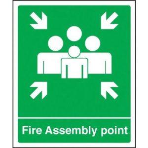 Fire assembly point sign vinyl - 25x30cm - 2-2059HF90444