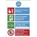 Fire Action Notice Photoluminescent Signs - 2F90453