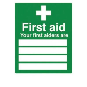 First aiders signF90498