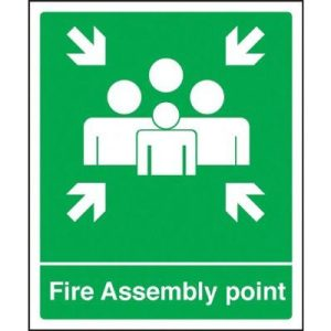 Fire Assembly Point SignF90546