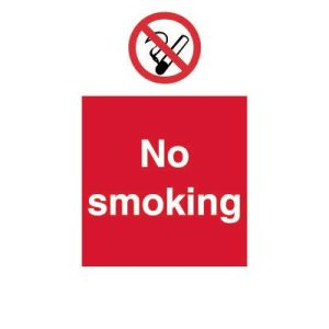 No smoking self adhesive vinyl sign - 15x20cmF90699