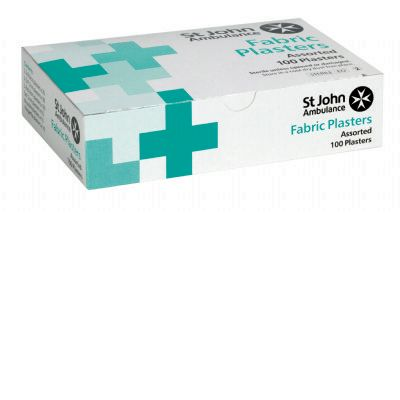 SJA fabric plasters assorted pk 100F98225
