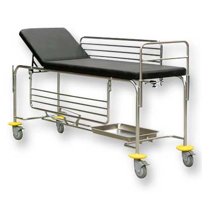 First Aid Room Patient Trolley - Stainless SteelFU/315